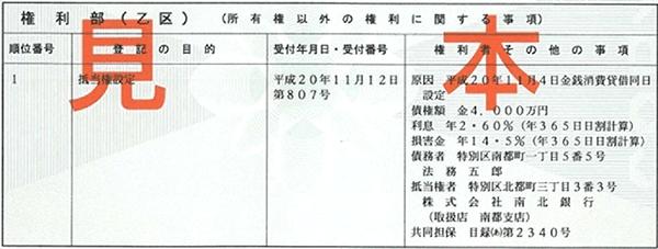 法務省 登記事項証明書(様式例:土地)